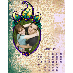 "Scrapbook template ""August #01"" in ""Calendars 2011"""