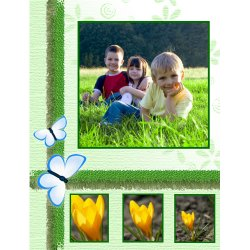 "Scrapbook template ""Spring #13"" in ""Spring"""