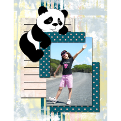 "Scrapbook template ""Funny zoo #01"" in ""Family"""