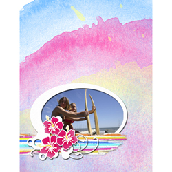 "Scrapbook template ""Surfing #13"" in ""Summer Vacation"""