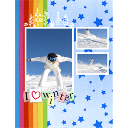 "Scrapbook template ""Winter time #09"" in ""Winter Vacation"""