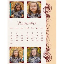 "Scrapbook template ""November #11"" in ""Calendars 2008"""