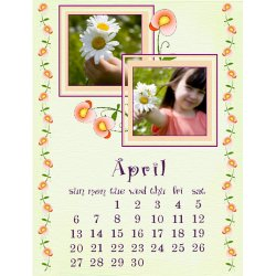 "Scrapbook template ""April #10"" in ""Calendars 2008"""