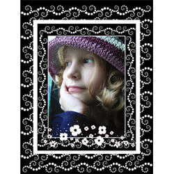 "Scrapbook template ""Black&White #09"" in ""Black&White"""
