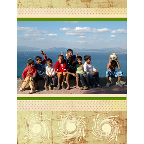 "Scrapbook template ""Friends #28"" in ""Friends Scrapbooking"""
