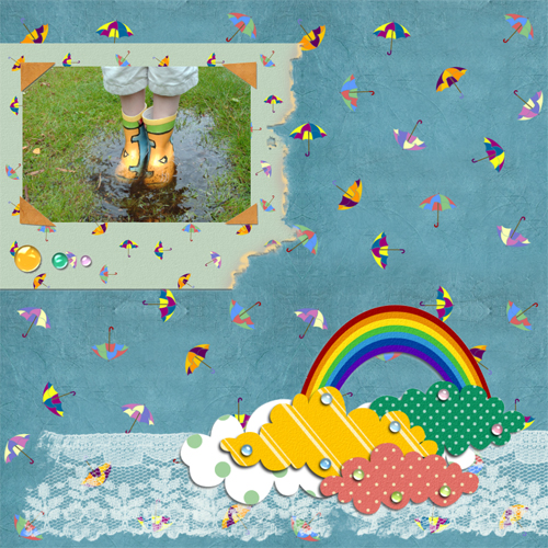 "Scrapbook template ""Rainy Day #10"" in ""Seasonal"""