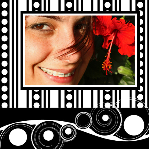 "Scrapbook template ""Black&White #04"" in ""Black&White"""