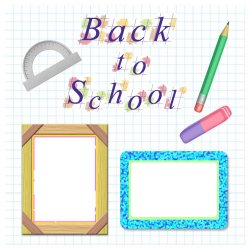 "Scrapbook template ""Back to School #3"" in ""Back to School"""