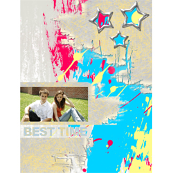"Scrapbook template ""Teenagers #17"" in ""Teenagers"""