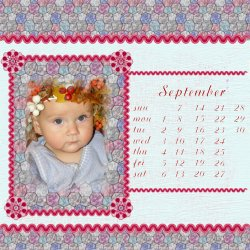 "Scrapbook template ""September #08"" in ""Calendars 2008"""