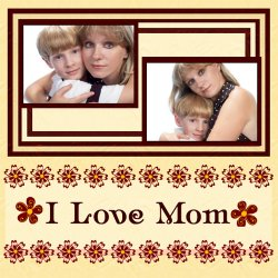 "Scrapbook template ""Mothers Day #09"" in ""Mother`s Day"""
