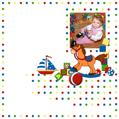 "Scrapbook template ""Toy Store #02"" in ""Baby Scrapbooking"""