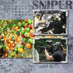 "Scrapbook template ""Paintball #08"" in ""Sport"""