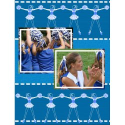 "Scrapbook template ""Cheerleaders #08"" in ""Cheerleaders"""