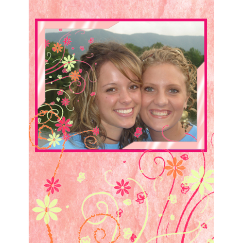 "Scrapbook template ""Friends #34"" in ""Friends Scrapbooking"""