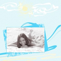 "Scrapbook template ""Summer #04"" in ""Summer Vacation"""
