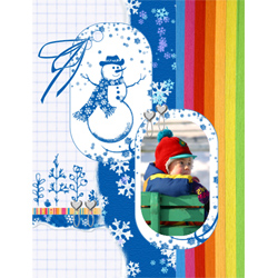"Scrapbook template ""Winter time #01"" in ""Winter Vacation"""