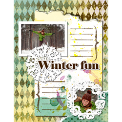 "Scrapbook template ""Winter 2011 #01"" in ""Seasonal"""