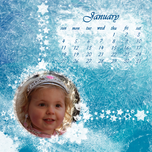 "Scrapbook template ""January #14"" in ""Calendars 2009"""