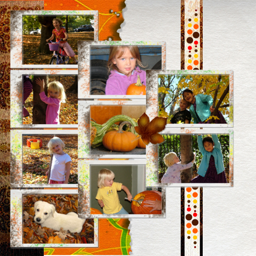 "Scrapbook template ""Fall #12"" in ""Fall"""