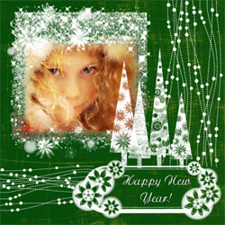 "Scrapbook template ""New Year 2009 #10"" in ""New Year"""