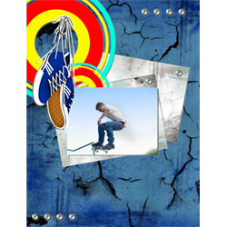 "Scrapbook template ""Skateboard #15"" in ""Sport"""