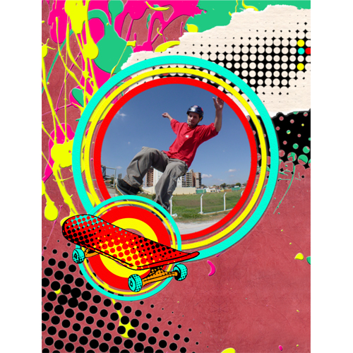 "Scrapbook template ""Skateboard #19"" in ""Sport"""