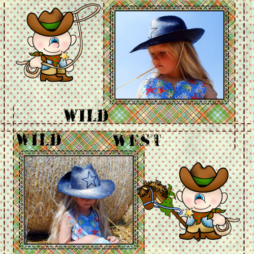 "Scrapbook template ""Wild West #20"" in ""Travel"""