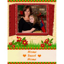 "Scrapbook template ""Home #01"" in ""Home"""