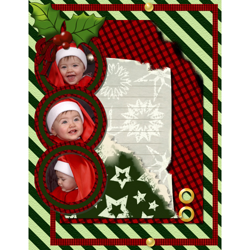 "Scrapbook template ""Christmas 09 #01"" in ""Christmas Scrapbooking"""