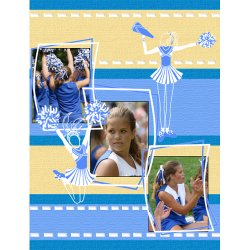 "Scrapbook template ""Cheerleaders #01"" in ""Cheerleaders"""