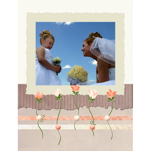 "Scrapbook template ""Wedding #05"" in ""Wedding Scrapbooking Templates"""