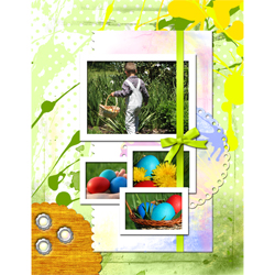 "Scrapbook template ""Easter 2010 #03"" in ""Easter"""