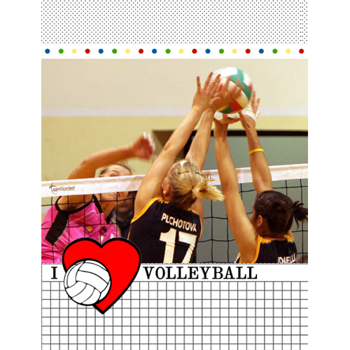 "Scrapbook template ""Volleyball #03"" in ""Sport"""