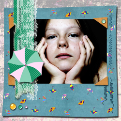 "Scrapbook template ""Rainy Day #06"" in ""Seasonal"""