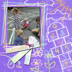 "Scrapbook template ""Playground #02"" in ""Family"""