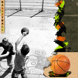 "Scrapbook template ""Basketball #02"" in ""Sport"""