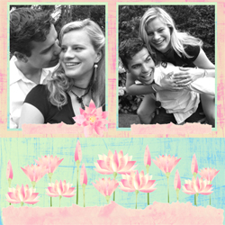 "Scrapbook template ""Love #18"" in ""Love Scrapbooking"""