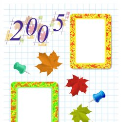 "Scrapbook template ""Back to School #2"" in ""Back to School"""