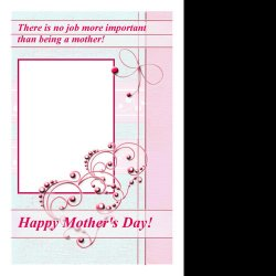 "Scrapbook template ""Mother"