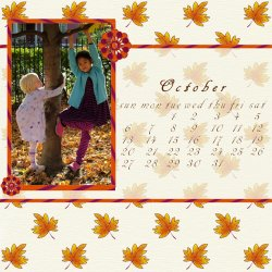 "Scrapbook template ""October #06"" in ""Calendars 2008"""
